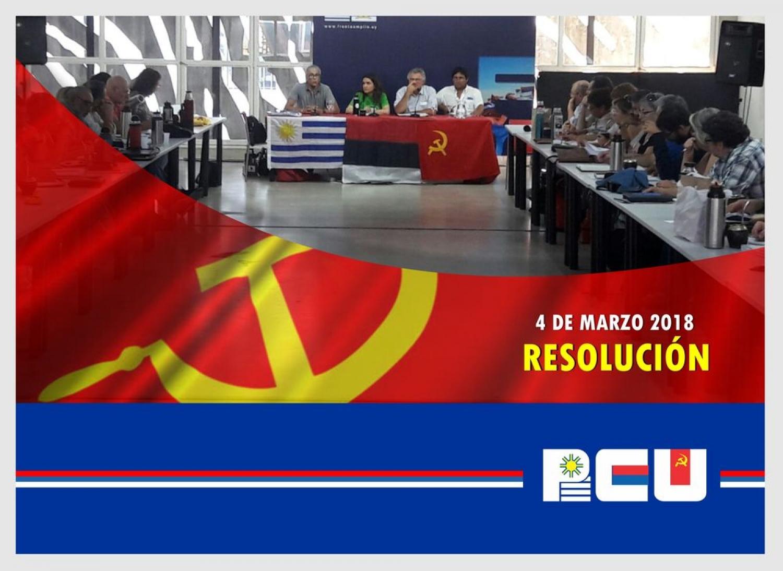 Resolución Política del Comité Central del PCU - 4/3/18