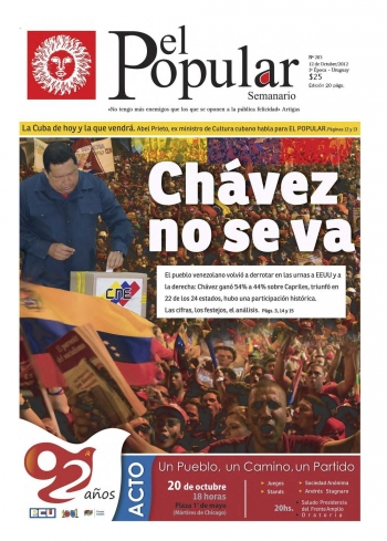 Editorial de El Popular N°292: «Ratificar la victoria y el programa popular»