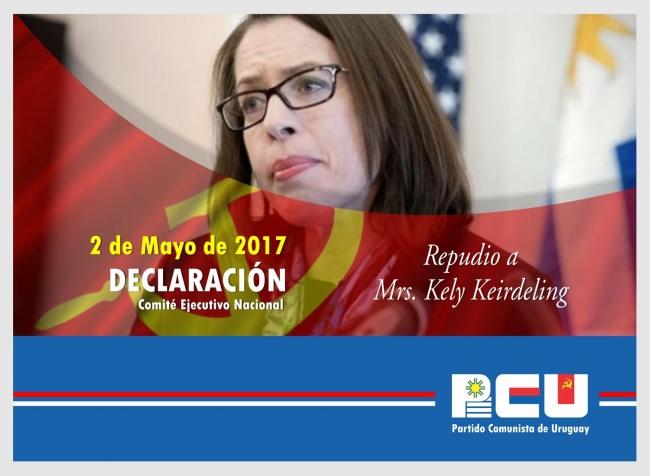 """Declaración del PCU: """"Repudio a Mrs. Kely Keirdeling"""" - 2 /5 /17"""