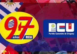 Actividades aniversario del PCU en Montevideo