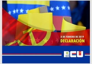 Declaración del PCU ante el agravamiento de la situación, los ataques y el bloqueo a la Revolución Bolivariana - 8/2/19