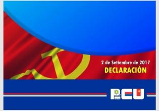Declaración Política del Comité Central del PCU - 2/9/17