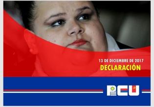 """Declaración del PCU: """"Ante la situación de la senadora Michelle Suárez"""""""
