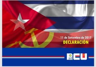 Declaración del PCU: