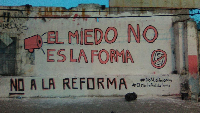 Mucha militancia contra la Reforma del miedo